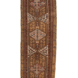"Antique Persian Tribal Serab Runner 3'7""×10'8"""