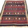 """Antique Persian Veramin Kilim 4'9""""×8'4"""""""