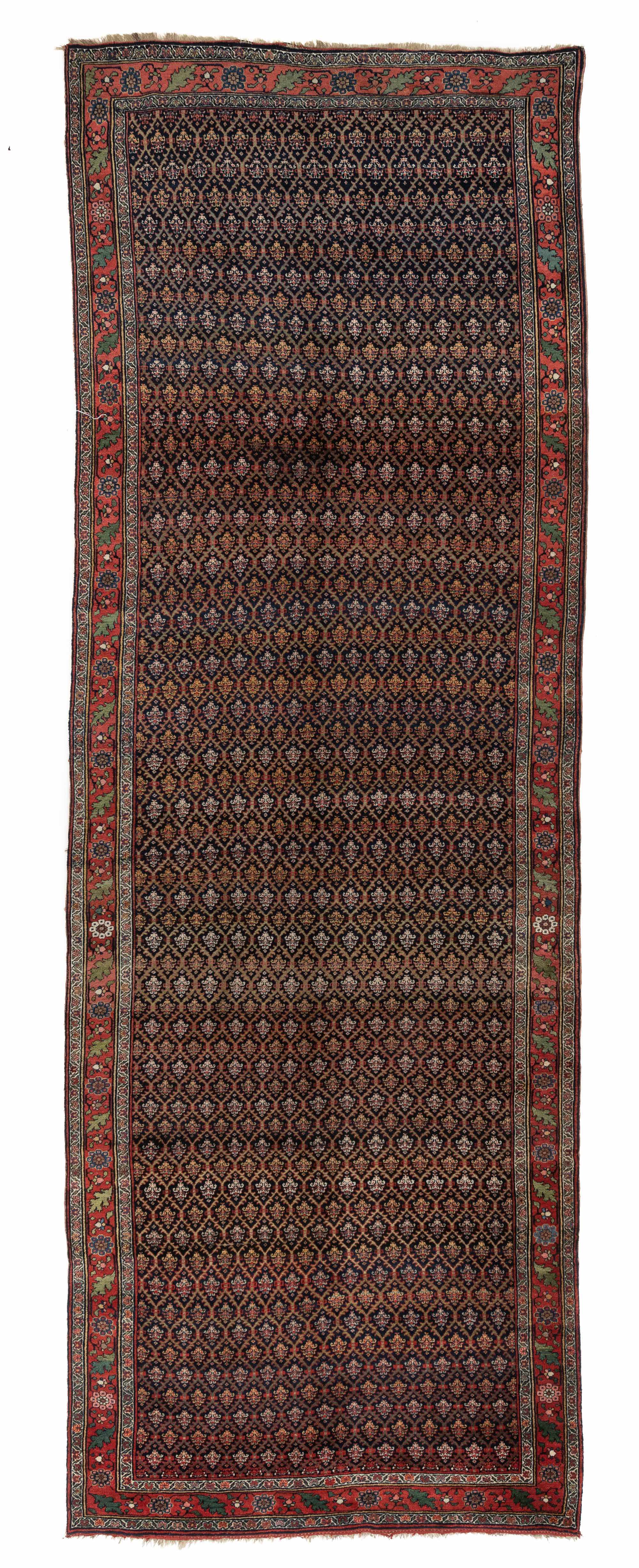 "Antique Pesian Kurdish Bidjar 5'11""×17'6"""