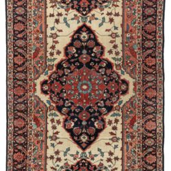 "Antique Sarouk Feraghan Rug 4'1""×6'10"""