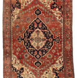 "Antique Serapi Rug 9'5""×12'9"""