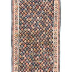 "Antique Shahsavan Tribal Kilim 5'2""×16'0"""