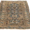 "Antique Shirvan Caucasus Tribal Rug 4'3""×5'4"""