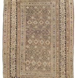 """Antique Shirvan Caucasus Tribal Rug 4'2""""×5'11"""""""