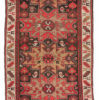"Antique Shirvan Caucasus Tribal Rug 3'1""×4'6"""