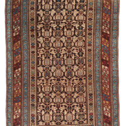 "Antique Shirvan Caucasus Tribal Rug 4'1""×5'11"""