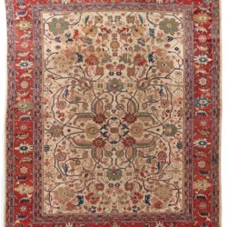 "Antique Sultanabad Rug 11'0""×13'2"""