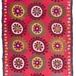 "Antique Suzani Textile 7'2""×12'0"""