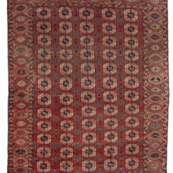 "Antique Tekke Turkoman Tribal Rug 7'2""×9'9"""
