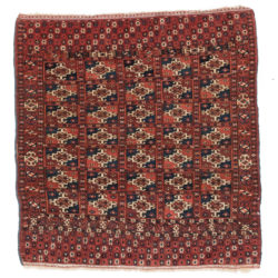 "Antique Tekke Wedding Rug 3'1""×3'4"""