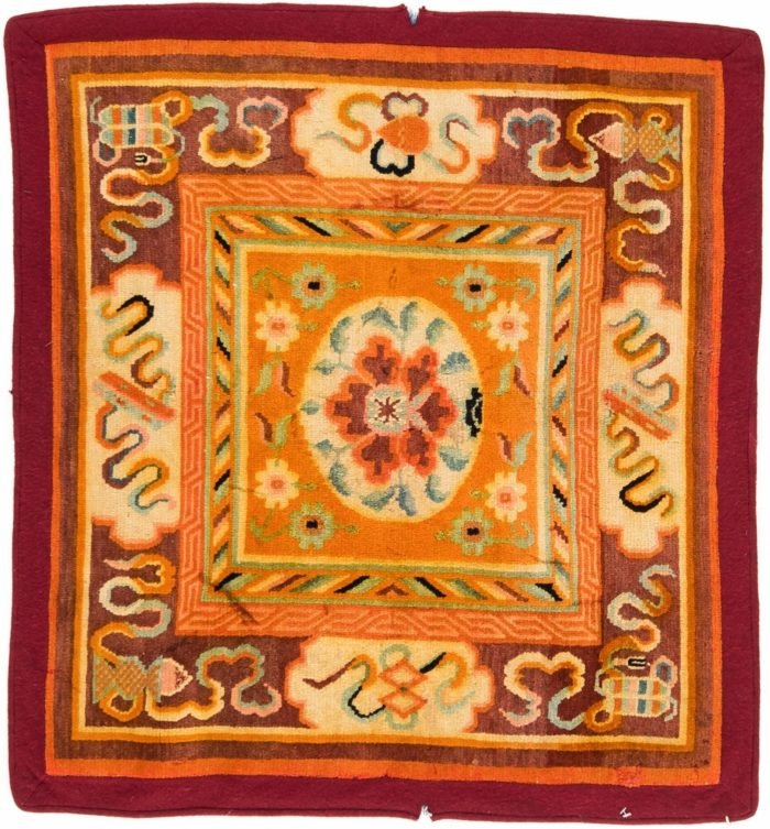 """Antique Tibetan Lama Seat 2'10""""×3'1"""""""
