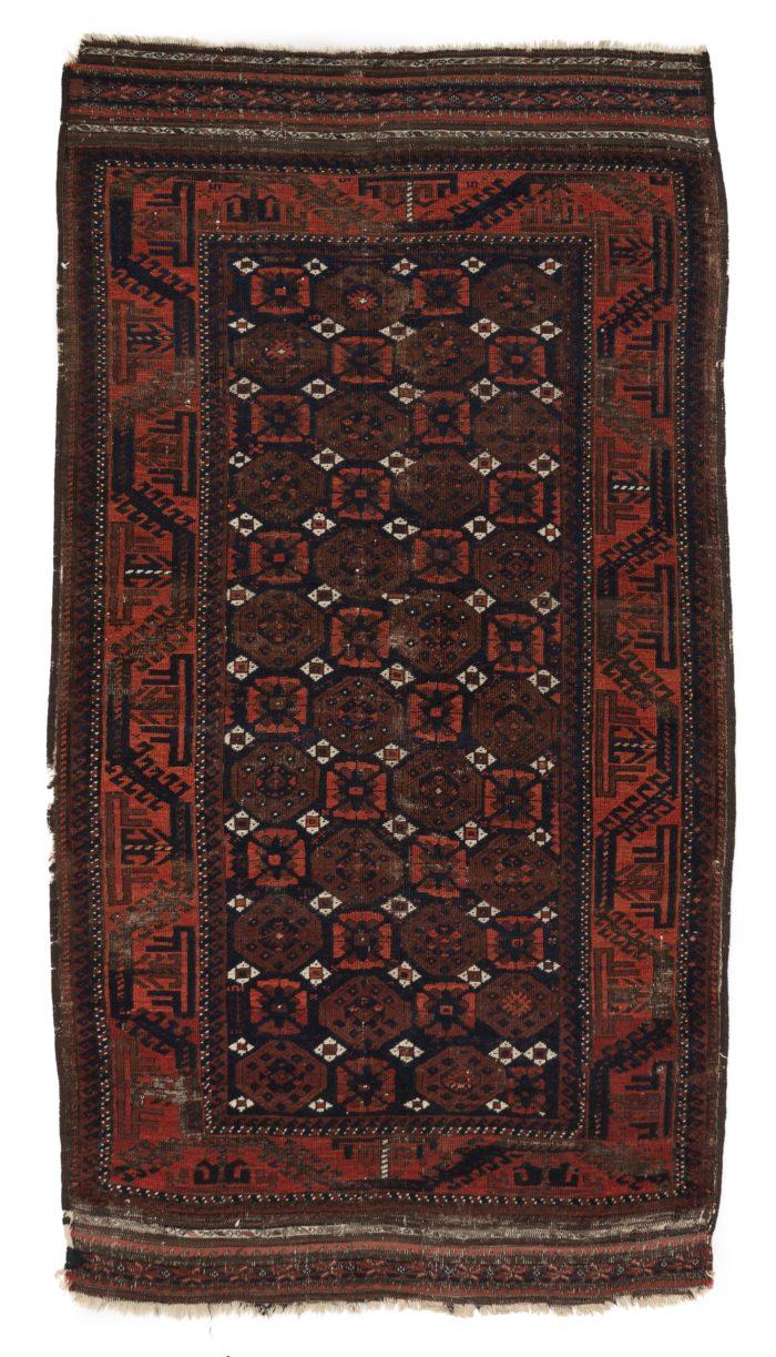 """Antique Tribal Belouchi Rug 3'4""""×6'0"""""""