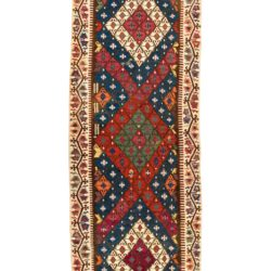 "Antique Turkish Adana Kilim 5'2""×14'1"""