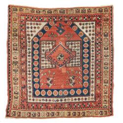 "Antique Turkish Anatolian Bergama 3'7""×3'8"""