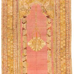 "Antique Turkish Ghiordes Prayer 5'0""×9'0"""