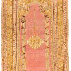 """Antique Turkish Ghiordes Prayer 5'0""""×9'0"""""""