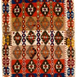 "Antique Turkish Kilim 4'7""×8'1"""