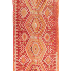 "Antique Turkish Kilim 5'6""×13'0"""