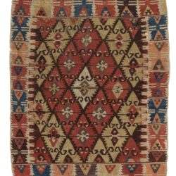 "Antique Turkish Kilim 3'0""×5'0"""
