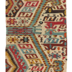 "Antique Turkish Kilim Fragment 2'1""×4'6"""