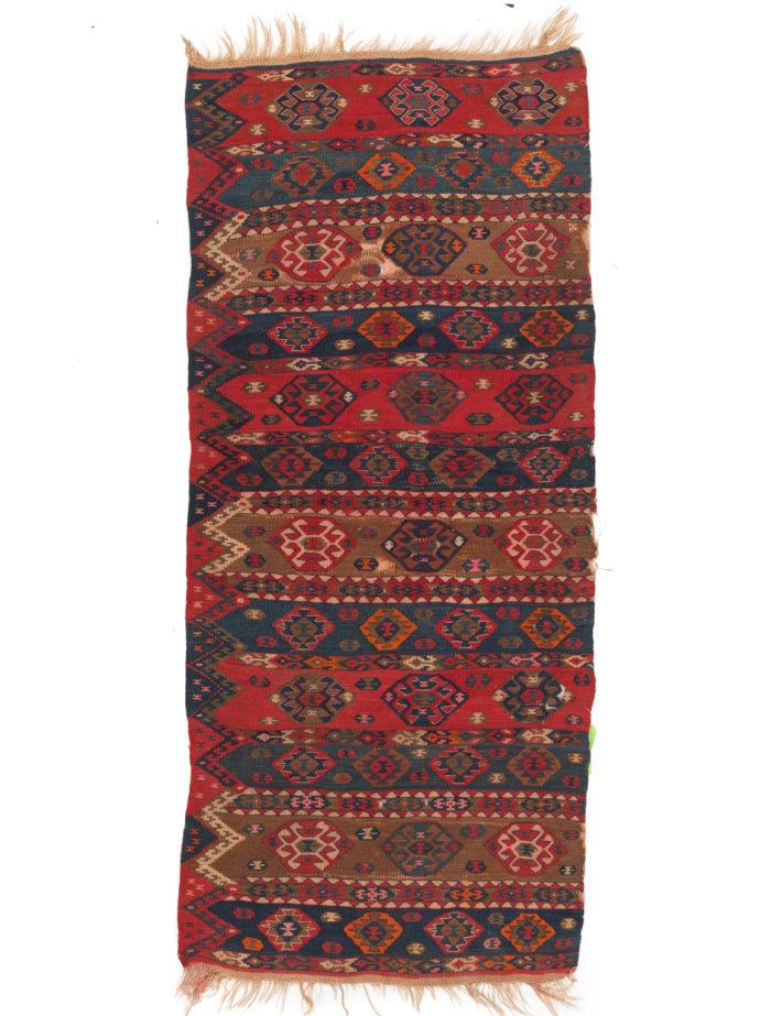 "Antique Turkish Kilim Half 2'11""×6'9"""