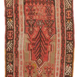 "Antique Turkish Kilim Prayer 3'5""×4'8"""