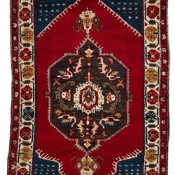 "Antique Turkish Konya 4'2""×6'4"""