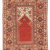 """Antique Turkish Milas Rug 3'7""""×5'7"""""""