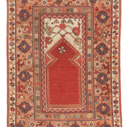 "Antique Turkish Milas Rug 3'7""×5'7"""