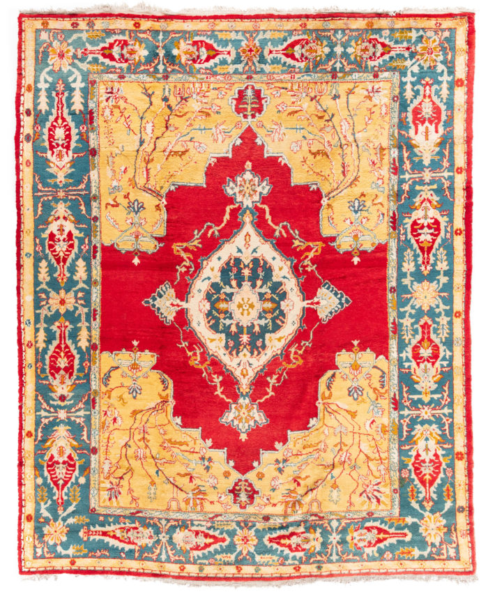 "Antique Turkish Oushak 10'3""×12'7"""