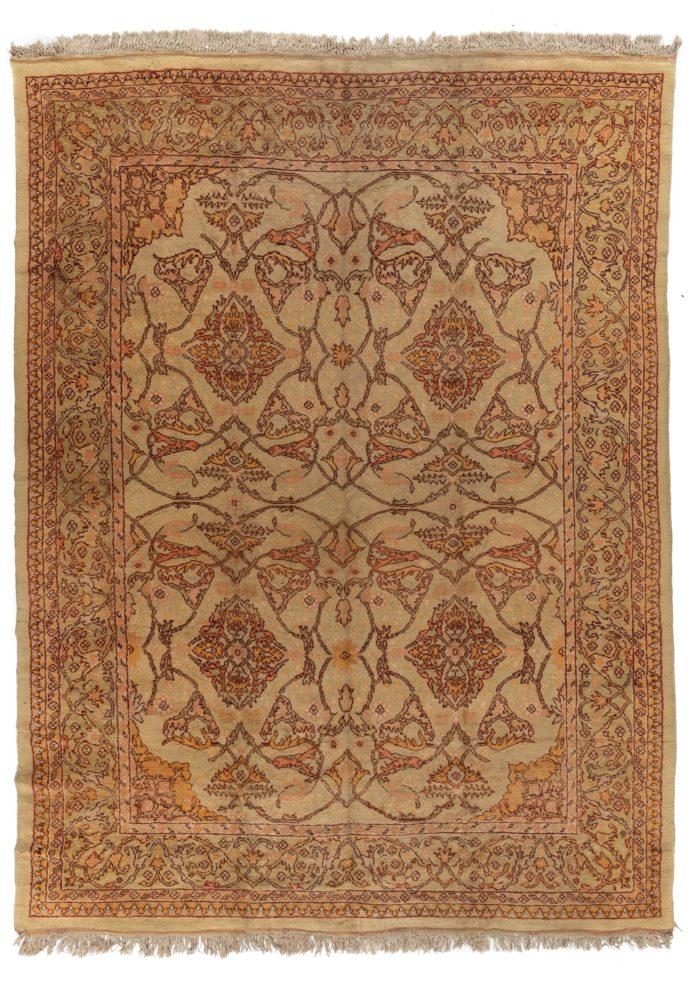 """Antique Turkish Oushak 9'10""""×12'9"""""""