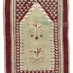"Antique Turkish Prayer Rug 3'3""×4'10"""