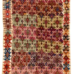 "Antique Turkish Reyhanli Kilim 5'2""×10'9"""