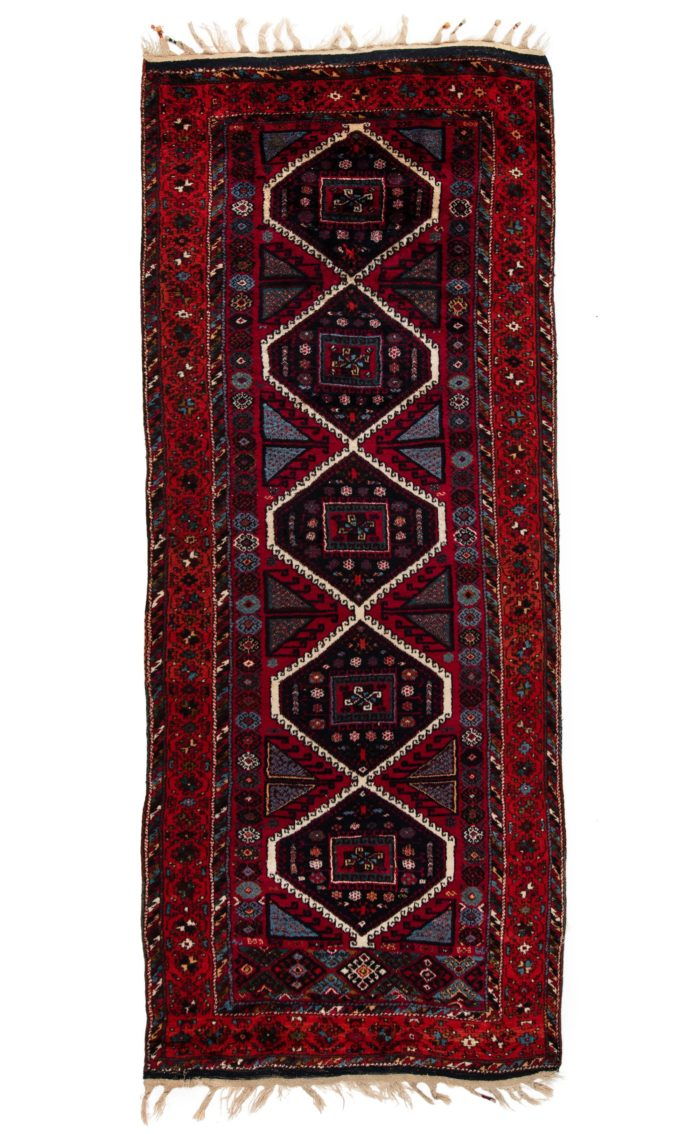 "Antique Turkish Yoruk Long Rug 4'6""×11'4"""
