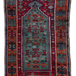 "Antique Turkish Yoruk Prayer Rug 3'0""×4'10"""