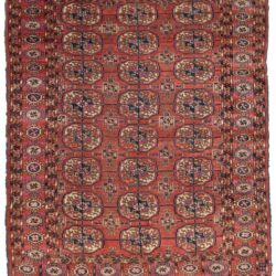 "Antique Turkman Bokhara 4'2""×5'2"""