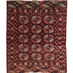 "Antique Turkman Rug 3'0""×3'7"""