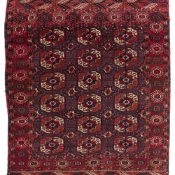 "Antique Turkman Rug 3'7""×4'3"""