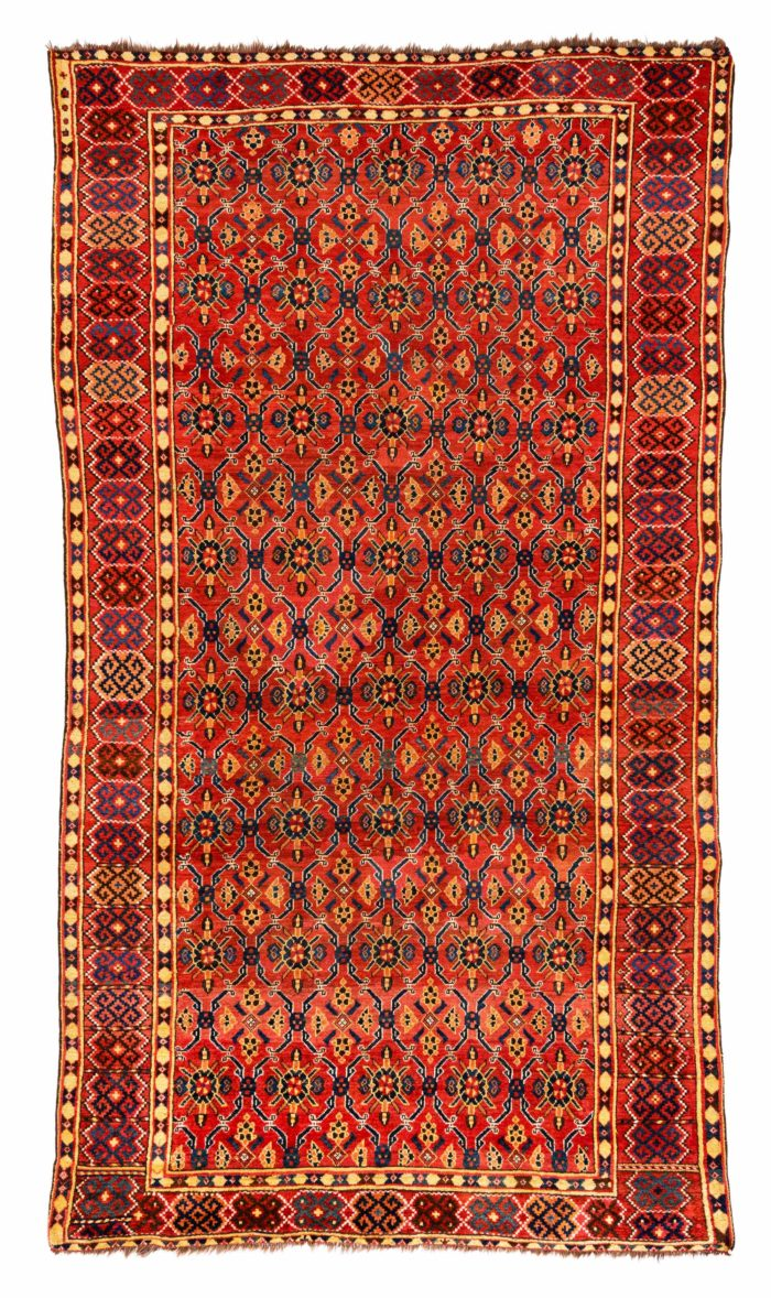 "Antique Turkmen Ersari 6'6""×11'8"""