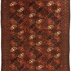 """Antique Turkmen Ersari Main Carpet 6'5""""×8'5"""""""