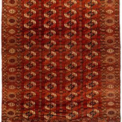 "Antique Turkmen Tekke 6'10""×8'9"""