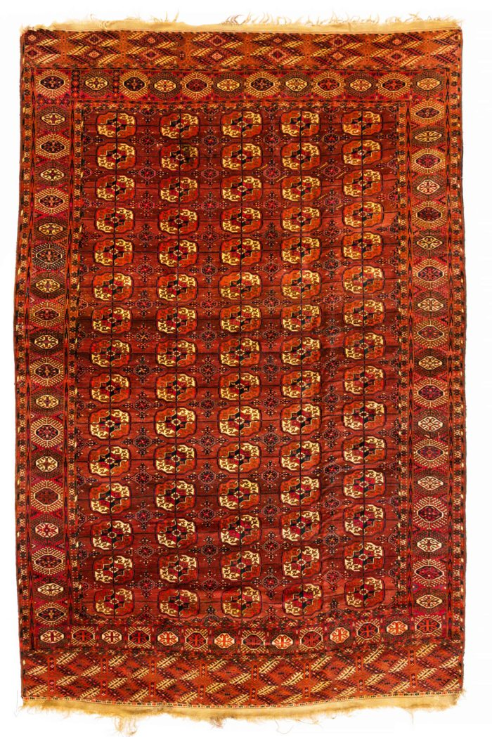 "Antique Turkmen Tekke Main Carpet 7'7""×11'5"""