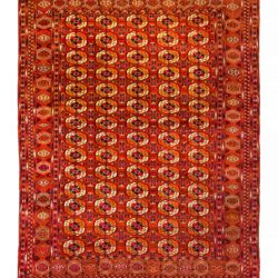 "Antique Turkmen Tekke Main Carpet 7'7""×11'0"""