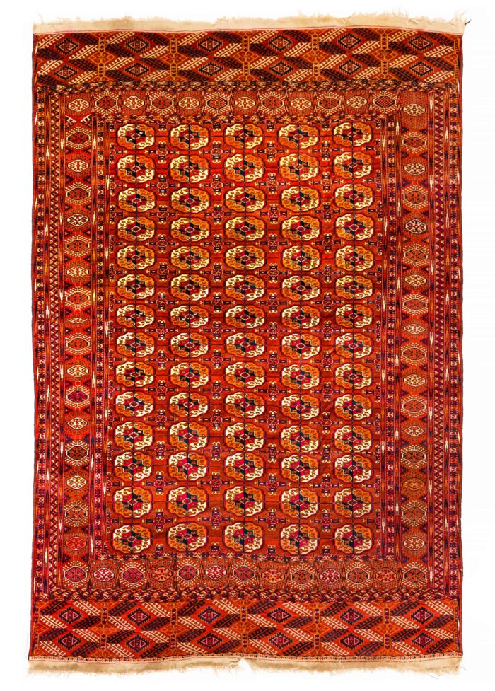 "Antique Turkmen Tekke Main Carpet 7'7""×11'0"""