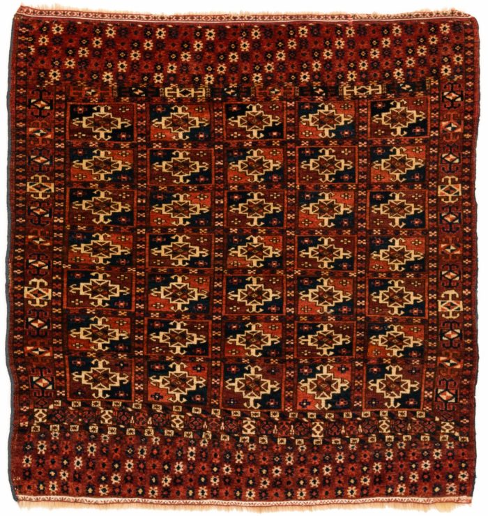 "Antique Turkmen Tekke Wedding Rug 3'1""×3'4"""