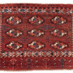 "Antique Turkmen Yomud Chuval 2'8""×3'10"""