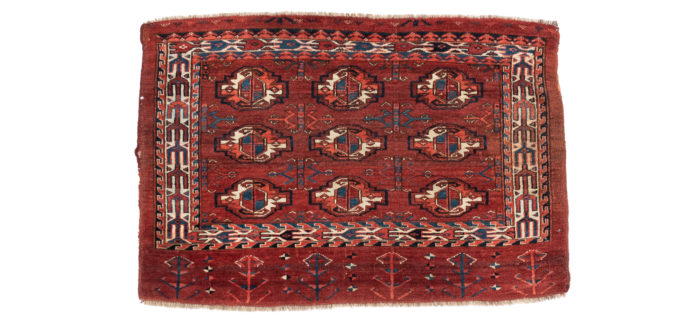 "Antique Turkmen Yomud Chuval 2'8""×3'10"""