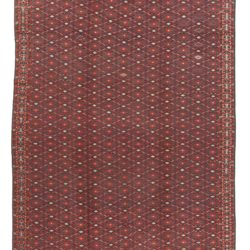 "Antique Turkmenistan Turkoman Tribal Flatweave Rug 7'2""×13'1"""