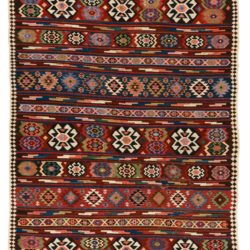 "Antique Veramin Persian Kilim 5'7""×12'5"""