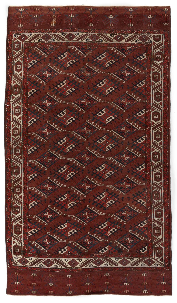 "Antique Yomud Finely Hand-Knotted Tribal Area Rug 6'0""×10'6"""